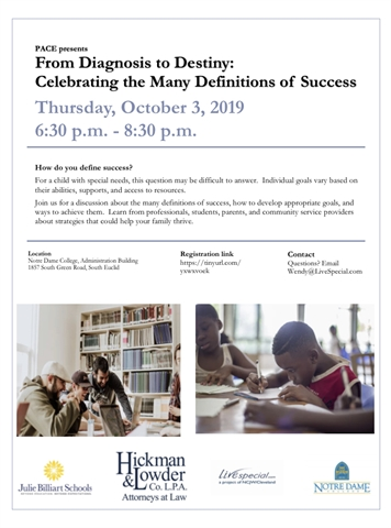 FREE Program on: From Diagnosis to Destiny: Celebrating the Many Definitions of Success