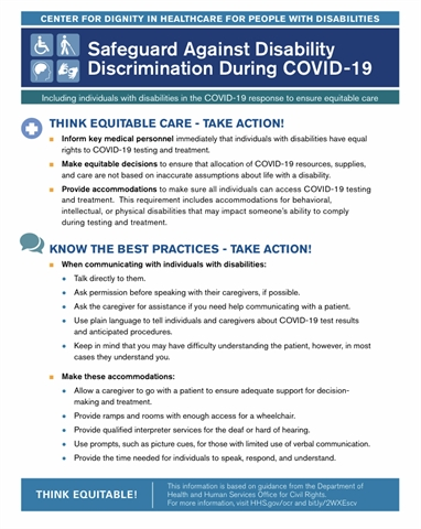 Rights of People with Disabilities during COVID-19